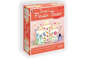 Bougies Flower Power