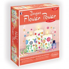 Bougies Flower Power