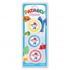 Patarev Styl 3 pots (Jaune, Bleu & Rouge)