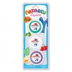 Patarev Styl 3 pots (Vert, Blanc & Violet)