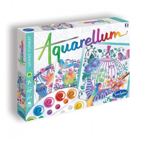 Aquarellum Les Oiseaux s'envolent