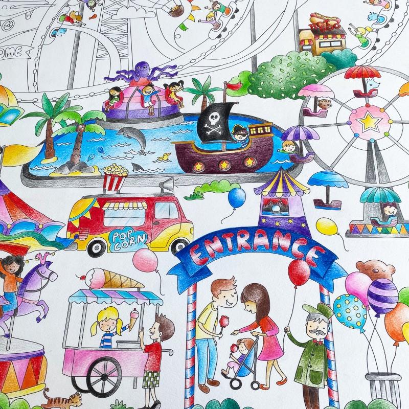 Art Creations Colouring Poster Magic Fair Artistic Activity