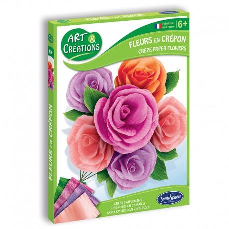 Art & Créations Fleurs en Crépon - Roses