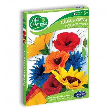 Art & Créations Fleurs en Crépon - Bouquet Champêtre