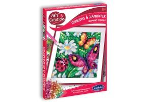 Art & Créations Canevas à Diamanter - Papillons & Marguerites