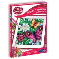 Canevas à Diamanter - Papillons & Marguerites