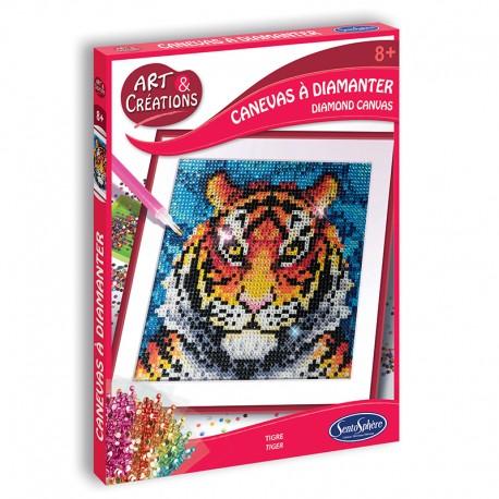 Art & Créations Canevas à Diamanter - Tigre