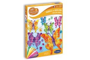 Art & Créations Mobile en Quilling - Papillons