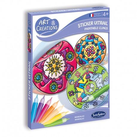 Art & Créations Stickers Vitrail - Mandalas