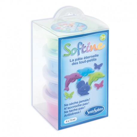 Recharge Softine 4 pots Couleurs Froides